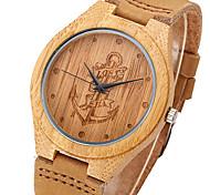 Hombre Mujer Pareja Unisex Reloj Deportivo Reloj Militar Reloj de Vestir Reloj de Moda Reloj de Pulsera Reloj creativo único Reloj Madera
