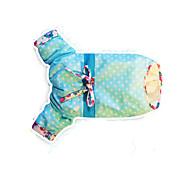 Кошка Собака Плащи Одежда для собак Очаровательный Английский Синий