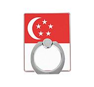 Сингапур флаг шаблон пластиковый держатель кольца / 360 вращающихся для мобильного телефона iphone 8 7 samsung galaxy s8 s7