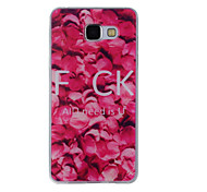 For Samsung Galaxy A8(2016) A8 A7 A5 A3 A510 A310 Case Cover Rose Petal Painted Pattern TPU Material Phone Case