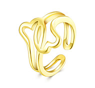 Hot Sell Punk Style Rose Gold Plated Open Ring New Platinum Plated The Finger Adjustable Hollow out Ring Jewelry For Women