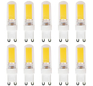 2.5W G9 LED Bi-pin Lights G95 1*2609 SMD 3014 270-290 lm Warm White Waterproof AC220/AC240V 10 pcs