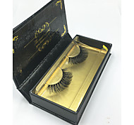 3D Eyelashes lash Full Strip Lashes Eyes Crisscross / Thick Lifted lashes / Volumized Handmade Fiber Black Band 0.07mm