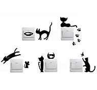 Животные Наклейки Простые наклейки Декоративные наклейки на стены / Наклейки для выключателя света,Винил материал Украшение домаНаклейка