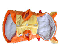 Dog Costume Dog Clothes Cute Solid Orange