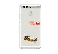 For Huawei P9 P9 Lite  P8 P8lite Pattern Case Back Cover Christmas Sled Soft TPU for P9 Plus P9 Mini Max P7 Honor 6 Honor 6 Plus Honor 4C
