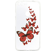 For Google Pixel XL Case Cover Butterfly Pattern Back Cover Soft TPU for Google Pixel