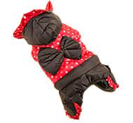 Katze Hund Mäntel Hundekleidung Niedlich Herzen Rot