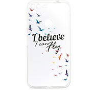 For Google Pixel XL Pixel Case Cover Bird Pattern Back Cover Soft TPU