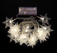 2m lumière blanche 8 modes chauds / froids 20 Guirlande LED produisant des étincelles (aa batterie)