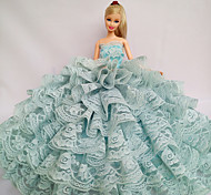 Party/Evening Dresses For Barbie Doll Light Green Lace Dresses For Girl's Doll Toy