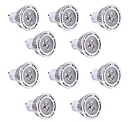 3W GU10 LED Spot Lampen 3 SMD 3030 250-300 lm Warmes Weiß / Kühles Weiß Dekorativ V 10 Stück