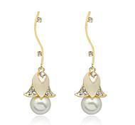 Earring Imitation Diamond / Rhinestone Drop Earrings Jewelry Women Party / Daily / Casual Alloy / Imitation Pearl / Gem 1 pair Champagne