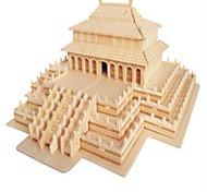 Пазлы Деревянные пазлы Строительные блоки DIY игрушки Китайская архитектура 1 Дерево Со стразами Модели и конструкторы