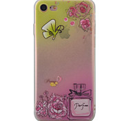 For iPhone 7 7 Plus 6S 6 Plus Case Cover Perfume Butterfly Pattern Super Soft Painting TPU Material