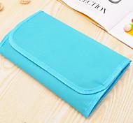 Makeup Storage Cosmetic Bag / Makeup Storage Nylon Solid 26*15*2 Blue