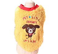 Собака Свитера Одежда для собак Сохраняет тепло Животные Желтый Синий