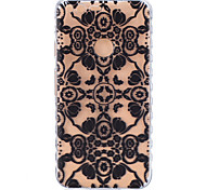 For Google Pixel XL Pixel TPU Material Black Flowers Pattern Wave Non-Slip Painting Phone Case