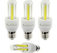 3W E26/E27 LED a pannocchia T 4 COB 210 lm Luce fredda Decorativo V 4 pezzi