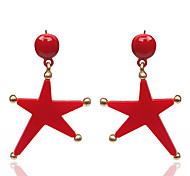 European Style Fashion Exaggerated Acrylic Star Drop Earrings