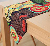 Rectangular Patterned / Floral Table Runner , Linen Material Hotel Dining Table / Table Decoration