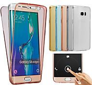 для Samsung Galaxy J7 2016 случая TPU всего тела защитный Прозрачная крышка случая j1 j2 j3 J5 J7 2016 года