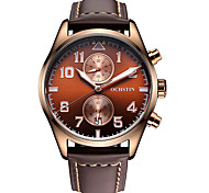 OCHSTIN Brand Men's Watch Import Quartz Movement Two Sub Dials Multi-function Quartz Men Wristwatch