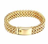 Bracelet Chaînes & Bracelets Acier inoxydable Soirée / Quotidien / Décontracté Bijoux Cadeau Doré,1pc