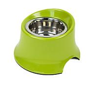 Dog Feeders Pet Bowls & Feeding Waterproof / Portable Green Plastic