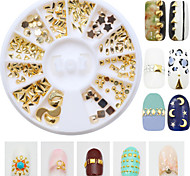 190pcs/Box Mix 12 Style Nail Art Decoration Rhinestone Pearls Makeup Cosmetic Nail Art Design