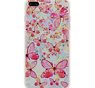 For IPhone 7Plus 7 6Plus 6 For Frosted Case Back Cover Case Butterfly Soft TPU