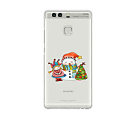 For Huawei P9 P9 Lite  P8 P8lite Pattern Case Back Cover Christmas Snowman And Doll Soft TPU for P9 Plus P9 Mini Max P7 Honor 6 Honor 6 Plus Honor 4C
