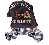 Dog Dress Dog Clothes Keep Warm Letter & Number Gray Red
