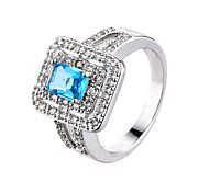 Explosion Style Simple Zircon Ring Gold Jewelry Gold Silver Fashion Finger Ring Wedding Jewelry