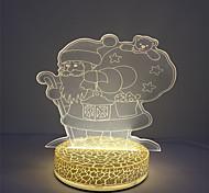 Wholesale Holiday Light 3D Effect Xmas Santa Design Led Table Night Light