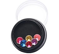 1pcs  Color Diamond Circular Satellite Stone