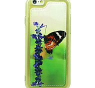 Butterfly Pattern Soft TPU Case Cover PU Leather Protective Case with For iPhone 6/6S