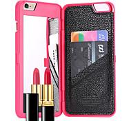 Назначение iPhone 8 iPhone 8 Plus iPhone 7 iPhone 7 Plus Чехлы панели Бумажник для карт Зеркальная поверхность Задняя крышка Кейс для