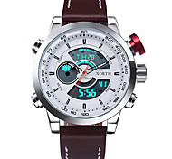 Мужской Спортивные часы Армейские часы Модные часы Наручные часы КварцевыйLED Календарь Защита от влаги С двумя часовыми поясами
