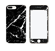 For IMD Case Back Cover Case Black Marble Soft TPU with Marble Tempered Glass Film Apple iPhone 7 7 Plus 6s 6 Plus