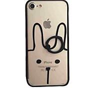 Для Кольца-держатели / С узором Кейс для Задняя крышка Кейс для Мультяшная тематика Твердый Акрил для AppleiPhone 7 Plus / iPhone 7 /