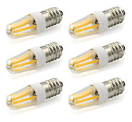 2W E14 Luces LED de Doble Pin T 4 COB 190 lm Blanco Cálido / Blanco Fresco Decorativa AC 100-240 V 6 piezas
