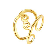 Fashion Punk Style Rose Gold Plated Open Ring 18K Platinum Plated The Finger Adjustable Hollow out Ring Jewelry For Women