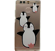 For HUAWEI P9 V8 Case Cover Penguin Pattern Embossed Scrub TPU Material Phone Case