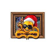 Feriado / 3D Wall Stickers Autocolantes 3D para Parede Autocolantes de Parede Decorativos,pvc Material Decoração para casa Decalque