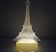 3D Effect Tower Shape Plastic Base Led Night Lamp