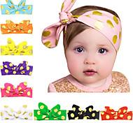 10 Farben / set Baby verknotet Stirnband mit goldenen Punkten gedruckt Säugling Haarband 10 Farben