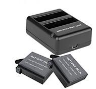Зарядное устройство батарея Для Gopro 4 Silver Gopro 4 Session Универсальный Путешествия