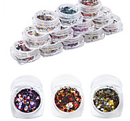 12pcs/set 24g Nail Art Decoration Rhinestone Pearls Makeup Cosmetic Nail Art Design