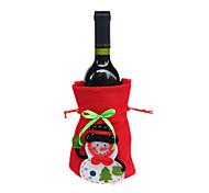 apuramento xmas Santa garrafa de vinho Noel cobertura sacos jantar de Natal da decoração da tabela da festa sacos vermelhos